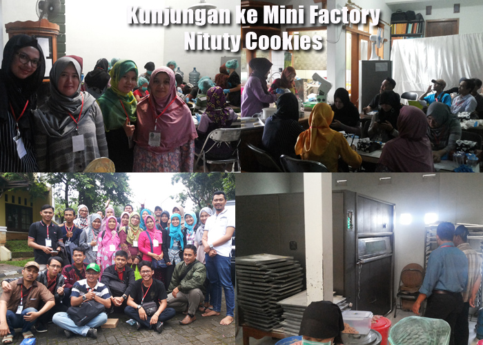 Kunjungan Wirausaha Muda Jabar ke Pabrik Nituty Cookies